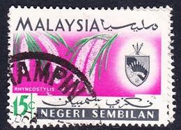 Malaysia-Negri Sembilan SG 86 1965 Orchids, 15c, Used - Negri Sembilan