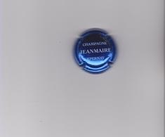 """CAPSULE DE CHAMPAGNE """"JEANMAIRE"""" Bleu Métallisé & Blanc, Lettres Fines - Champagne"""