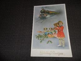 Enfant ( 1762 )     Kind   Carte Brillante   Train  Trein - Kinderen