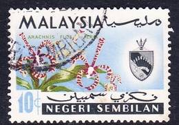 Malaysia-Negri Sembilan SG 87 1965 Orchids, 10c, Used - Negri Sembilan