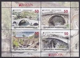 Macedonia 2018 Europa CEPT Bridges, Architecture, Fauna, Birds, Stork, Booklet MNH - 2018