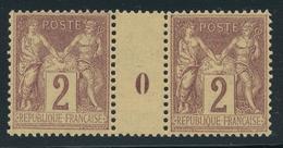 N°85 NEUF * PAIRE MILLESIMEE O - 1876-1898 Sage (Type II)