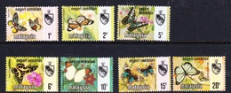 Malaysia-Negri Sembilan SG 91-97 1971 Butterflies, Mint Hinged - Negri Sembilan