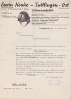 ALLEMAGNE 1934 RAPPEL DE FACTURE DE TUTTLINGEN  FA ERWIN HENKE - Germany