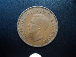 NOUVELLE ZÉLANDE : 1 PENNY  1947   KM 13    TTB+ - Nouvelle-Zélande