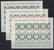 Olanda 1967 Unif. 852/54 Minisheet Of 10 **/MNH VF - Period 1949-1980 (Juliana)