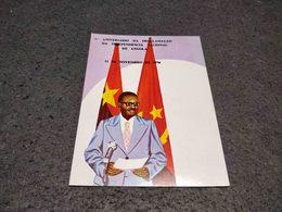 VINTAGE POSTCARD ANGOLA 1º ANIVERSARIO DA PROCLAMAÇAO DA INDEPENDENCIA NACIONAL DE ANGOLA 1976 UNUSED - Angola