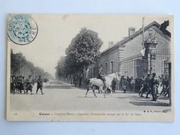 C.P.A. : 58 COSNE : Caserne Binot, Quartier D'Infanterie Occupé Par Le 85 è De Ligne, Cavalier, Animé, Timbre En 1907 - Cosne Cours Sur Loire