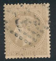 N°30 NUANCE OBLITERATION - 1863-1870 Napoléon III Lauré
