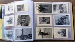 Ancien ALBUM De Photos ALGERIE Guerre Soldats Militaria 60 Photos Soldats Helicoptère Arme - Guerra, Militares