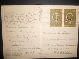 Theme Europa , Carte De Rodos 1966 Pour Toulon - Europa-CEPT