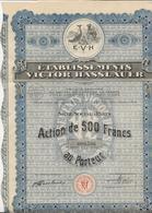 ACTION DE 500 FRS - PARFUMS -ETABLISSEMENTS VICTOR HASSLAUER- DIVISE EN 2000 ACTIONS - 1926 - Parfums & Beauté