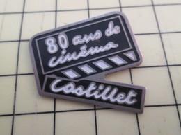 Pin313f Pin's Pins / Beau Et Rare : Thème CINEMA / 80 ANS DE CINEMA CASTILLET CLAP - Films