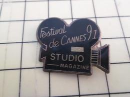 Pin313f Pin's Pins / Beau Et Rare : Thème CINEMA / FESTIVAL DE CANNES 1991 STUDIO MAGAZINE CAMERA - Films