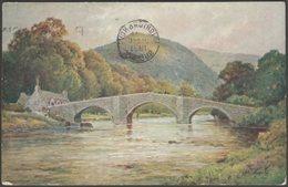 Llanrwst Bridge, Denbighshire, 1931 - CW Faulkner Postcard - Denbighshire