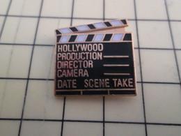 Pin313f Pin's Pins / Beau Et Rare : Thème CINEMA / CLAP DE CINEMA HOLLYWOOD PRODUCTION - Films