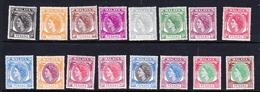 Malaysia-Penang SG 28-43 1954 Queen Elizabeth II, Set 16 Stamps, Mint Hinged - Penang