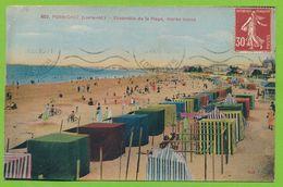 PORNICHET - Ensemble De La Plage, Marée Basse Cpa Colorisée Circulé 1938 - Pornichet
