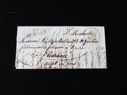 LETTRE DE AUMALE POUR FLEURANCE  -  1830  - - Marcophilie (Lettres)
