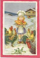 BERTIGLIA - Petite Fille Cuisinière Poulet Roti - Coq, Poules Et Dindon - Bertiglia, A.