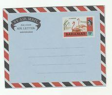 BAHAMAS 11c AEROGRAMME FLAMINGO Bird Stamps Cover Birds - Flamingo