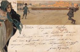 Tosca-Opera Di Puccini-Illustratore Metlicovitz-Difetto Centrale Destro-Vg 1900-Originale 100%an - Altre Illustrazioni