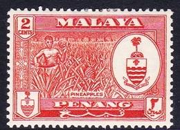 Malaysia-Penang SG 56 1960 Definitives, 2c Orange, Mint Hinged - Penang
