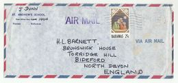 1977 BAHAMAS ST ANDREWS SCHOOL Nassau Air Mail COVER  CHRISTMAS Stamps To GB - Bahamas (1973-...)