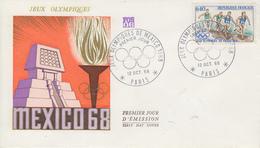 Enveloppe  FDC  1er  Jour   FRANCE   Jeux  Olympiques  MEXICO   1968 - Estate 1968: Messico