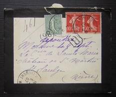 1907 Jolie Petite Lettre Recommandée B. Clément Avec Cachet Rond , à Identifier ! - Postmark Collection (Covers)