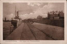 !  Alte Ansichtskarte Aus Brunsbüttelkoog, Elblotsenhaus, Kanal, Schiff, Dampfer, Schleswig-Holstein - Brunsbüttel