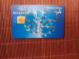 Phonecard Sport Sky Diving Belgium Low Issue Used  Rare - Mit Chip