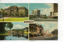 Postcard - Burnley - Four Views - Posted  7th May 1976 Very Good - Postcards
