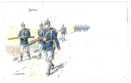 Cpa Signée Becker - Soldats Allemands, Spitze    ( ILL ) - Illustrateurs & Photographes