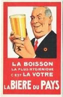Illustrateur. Publicité. La Bière Du Pays... Cachet Georges Defalque, Brasseur à Nivelles, 1929. Voir Texte Au Dos. - Advertising