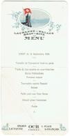 Menu. Lausanne-Palace. Beau-Site. Diner Du 15 -9-1929. - Menus