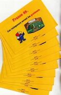 LOT DE 10 FLAYERS FDJ FRANCAISE DES JEUX NEUFS 2 VOLETS 15cmX10cmX2 FRANCE 98 LES VAINQUEURS SERONT LES GRATT - Serbon63 - Advertising