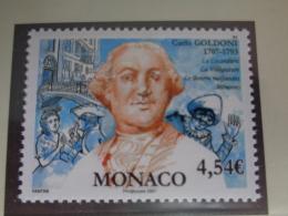 MONACO 2007  Y&T N° 2588 ** - CARLO GOLDONI AUTEUR COMIQUE ITALIEN - Neufs