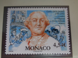MONACO 2007  Y&T N° 2588 ** - CARLO GOLDONI AUTEUR COMIQUE ITALIEN - Monaco