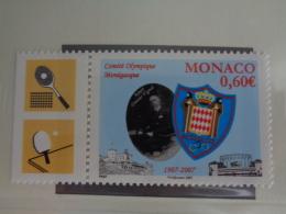 MONACO 2007  Y&T N° 2590 ** - CENTENAIRE DU COMITE OLYMPIQUE MONEGASQUE - Monaco