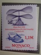 MONACO 2007  Y&T N° 2597 ** - CENTENAIRE DU 1er VOL DE L' HELICOPTERE DE MAURICE LEGER - Monaco