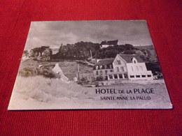 THEME LES HOTELS DU MONDE °°   HOTEL  DE LA PLAGE  SAINTE ANNE LA PALUD - Hotels & Restaurants