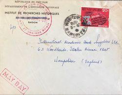 ◆◆VIETNAM 1970  AIR MAIL TO ENGLAND - Viêt-Nam