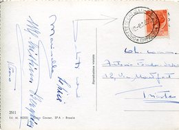 34646 Italia,special Postmark 1955 On Circuled Card Grotte Di Catullo Sirmione,caves,grottes,catullo Hohlen Sirmione - Autres