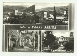 SALUTI DA FARFA SABINA  VIAGGIATA FG - Rieti
