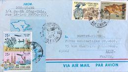 ◆◆VIETNAM   1973 AIR MAIL TO FRANCE - Viêt-Nam