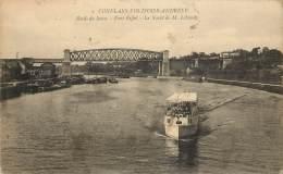 CONFLANS FIN D'OISE ANDRESY - Bords De Seine - Pont Eiffel - Le Yacht De M. Lebaudy - Andresy