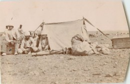PHOTO 6e BATAILLON DE TIRAILLEURS ALGERIENS DEVANT LA TENTE - War, Military