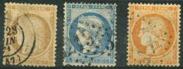 Petit Lot France Classiques Oblitérés N°36-37-38 - France