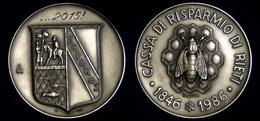 BM374 - CASSA DI RISPARMIO DI RIETI - Medaglia D'Argento Nel 140° Della Fondazione - Professionals / Firms